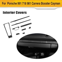Dashboard Trim 9pcs/set For Porsche 991 981 911 718 Boxster Cayman Coupe 2 Door 2016 2018 LHD Car Interior cover accessories