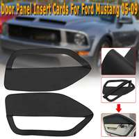 Door Panel Insert Cards Cover Black Synthetic Leather Black Fit for Ford for Mustang 05 09 Front Door Plate Parts