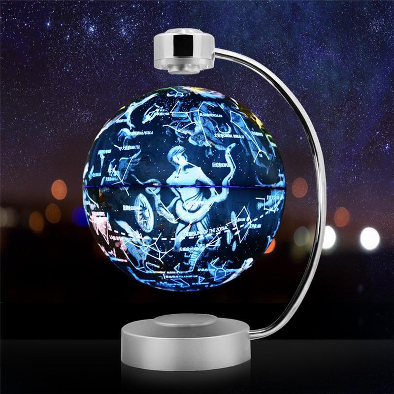 Globe de Suspension magnétique innovant 8 pouces Rotation lumineuse Constellation Globe décoration de la maison