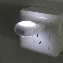 "1PC מיני LED חילזון לילה אור אוטומטי לילה מנורת מובנה אור חיישן אור שינה מנורת שקע עבור תינוק ילדים שינה האיחוד האירופי/ארה""ב Plug"