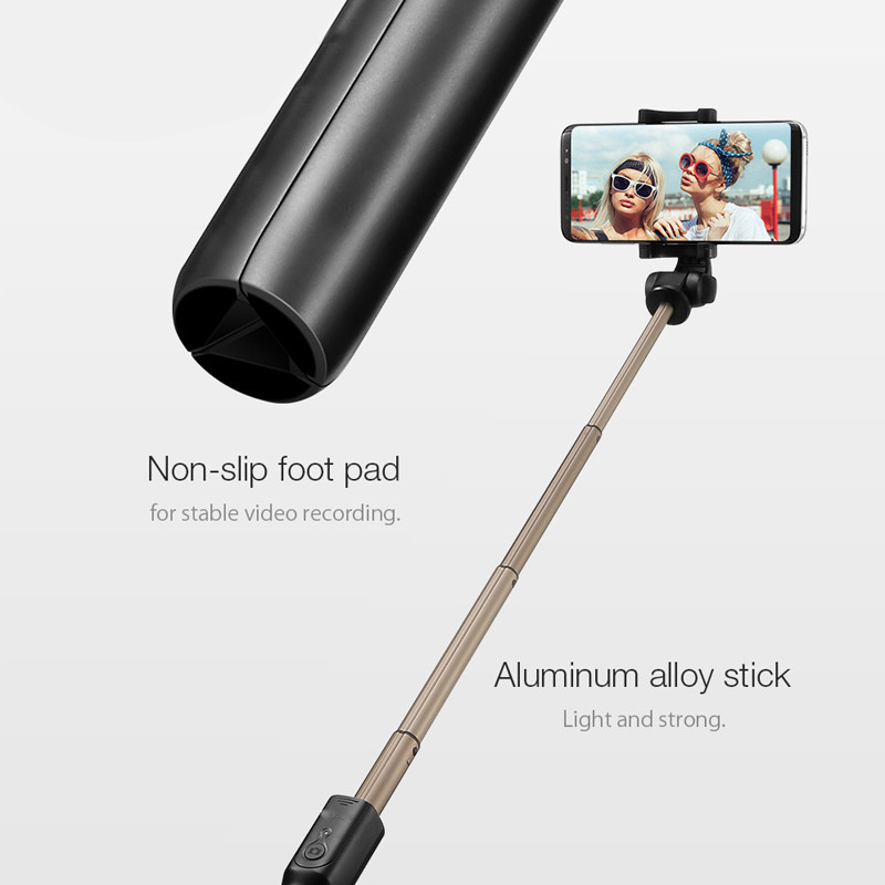 3 in 1 Bluetooth Selfie Stick Wireless Mini Tripod Monopod Extendable Selfie Stick Universa For Samsungl For iPhone 7