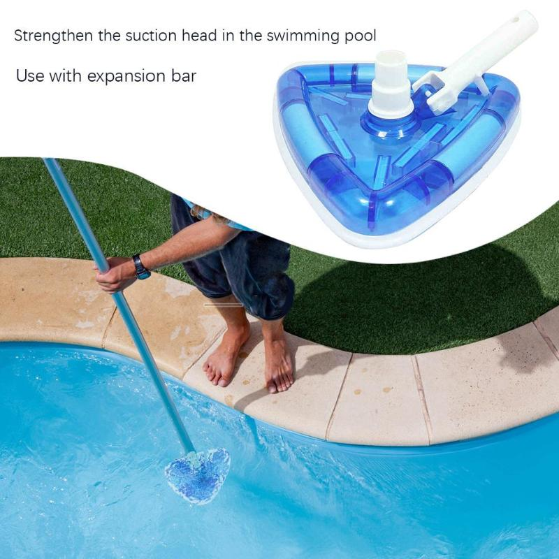 US $20.68 25% OFF|Vacuum Swimming Pool Cleaner Triangular Shape Head  Cleaning Weighted with Telescopic Pole Brush Tool Swimming Pool  Dropshipping-in ...