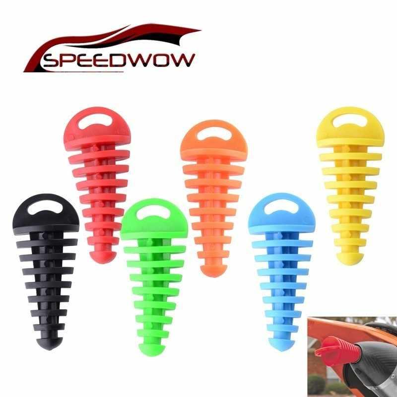 SPEEDWOW オートバイ排気管プラグマフラー洗浄プラグパイププロテクターモトクロステールパイププラグ移動ブローダウンサイレンサー PVC