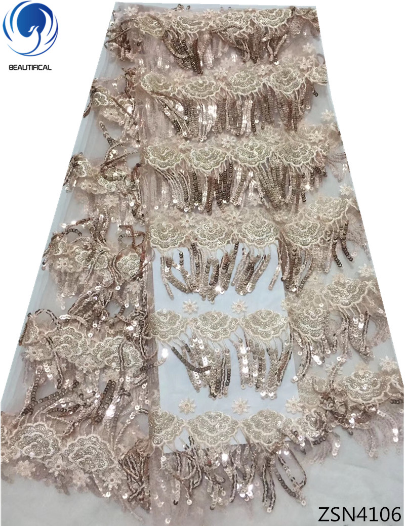 BEAUTIFICAL african sequin french lace fabric fringe style design net sequin lace fabric tulle ZSN41BEAUTIFICAL african sequin french lace fabric fringe style design net sequin lace fabric tulle ZSN41
