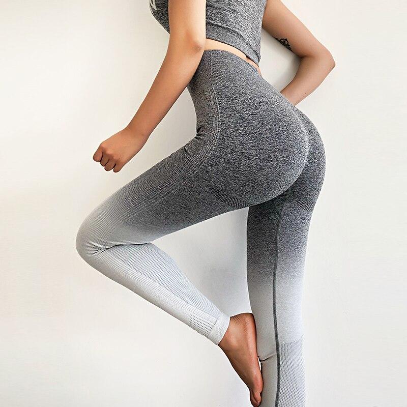 NORMOV Women Fitness Seamless Leggings High Waist  Hollow Fitness Legging Sporting Leggings Side Stripe Jeggings 4