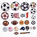 Смешанный дизайн, вышитые нашивки для футбола, наклейки с помощью утюга «сделай сам», спортивные мячи, аппликации для джинсов, одежды, рюкза...