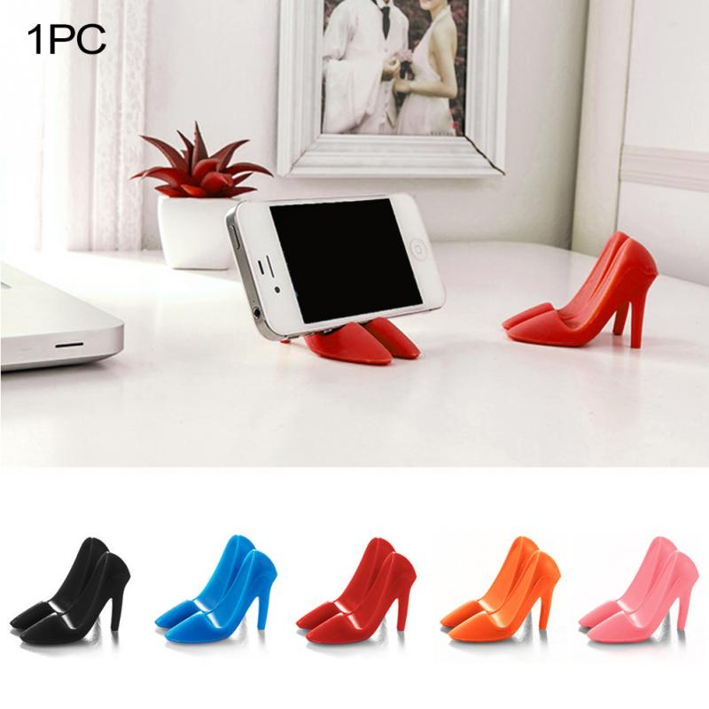 Stylish Silicone High-heeled Shoes Shape Mobile Phone Holder Stand For Mobile Phone Tablet Smartphone Holder Support ~