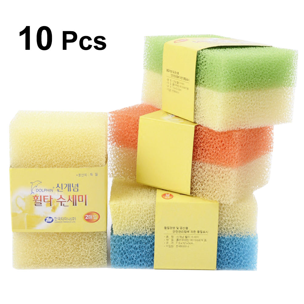 Esponjas de Limpieza Fibra Natural ROU 10 Vegano Respetuoso del Medio Ambiente Esponjas de Limpieza de Cocina Natural Premium