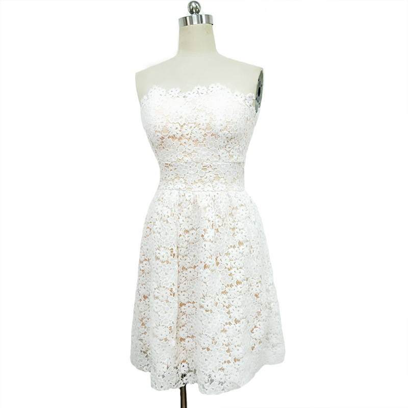 MUXU white lace dress backless vestidos kleider fashion sukienka frocks sexy clothes dresses woman party night dress elegant in Dresses from Women 39 s Clothing
