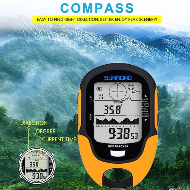 SUNROAD Waterproof FR510 Barometer Compass Outdoor Climbing Altimeter Tools Height change interval prompt sensor chip in Compass from Sports Entertainment