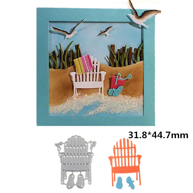 Home & Garden Forceful 31.8*44.7mm Chair Swovo Scrapbooking Metal Cutting Dies Stencil Paper Card Embossing Craft To Make One Feel At Ease And Energetic