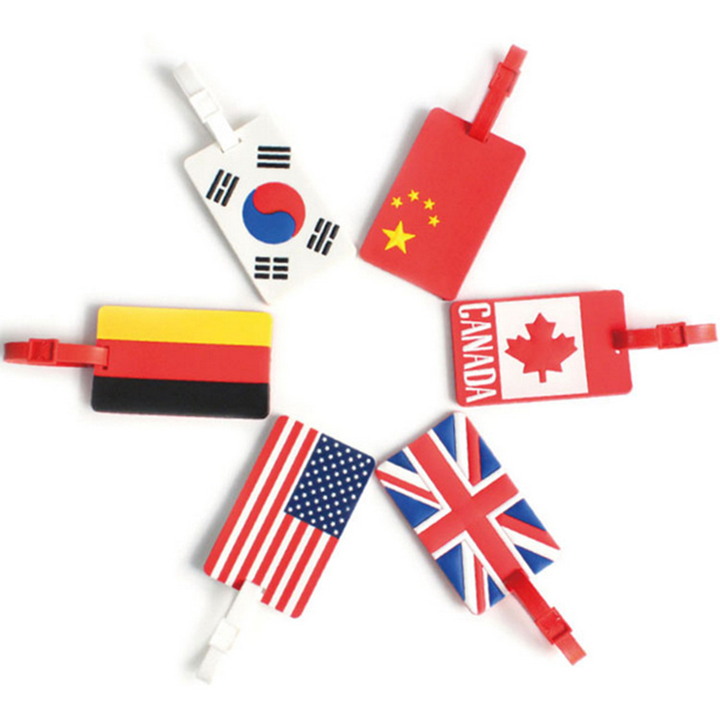 National Flag 2018 New Fashion Baggage Tag PVC Travel Accessories Bag Portable Travel Label Suitcase Girl Boy