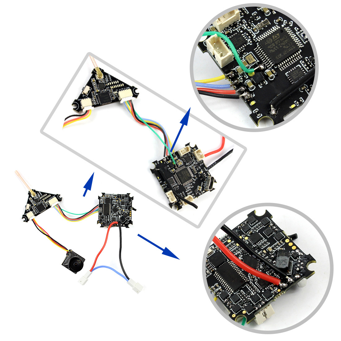 75mm V2 Crazybee F4 Pro OSD 2S FPV RC Racing Drone Caddx EOS2 1200TVL Mini Camera 25/200mW VTX RTF BNF Upgraded Mobula7