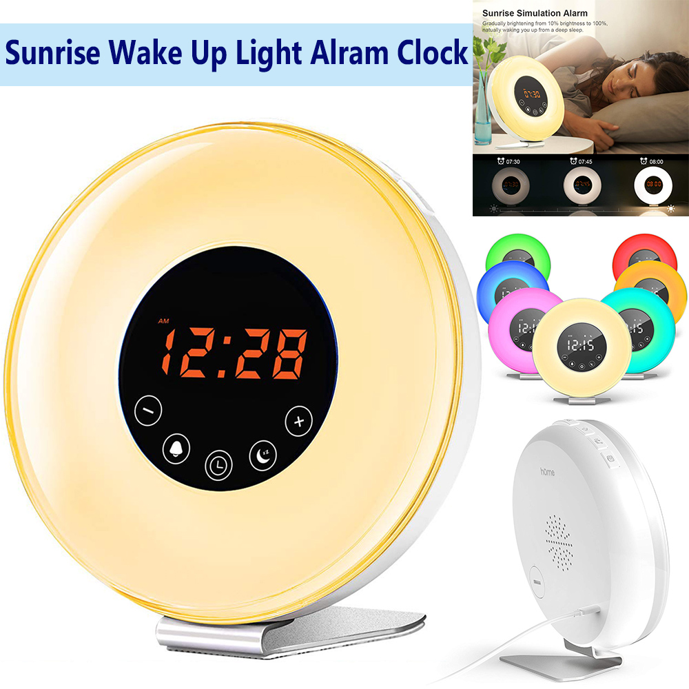 Wake up Light  Sunrise Alarm Clock LED Touch Control D25