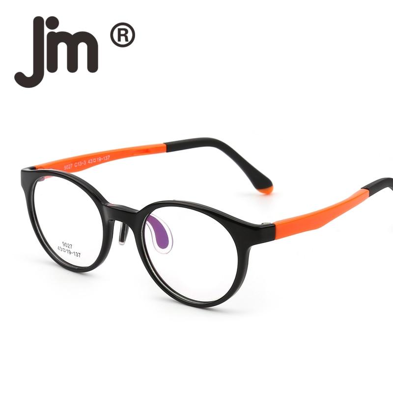JM Kids Teens Round Glasses Optical TR Frame for Girls Boys Cheap Eyeglasses Non-Prescription Clear Lenses