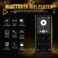 Bluetooth MP4 MP3 Player Portable Media Music Player 2.4 Inch Touch Keys Radio FM Radio HIFI Video Adapter 8GB 16GB