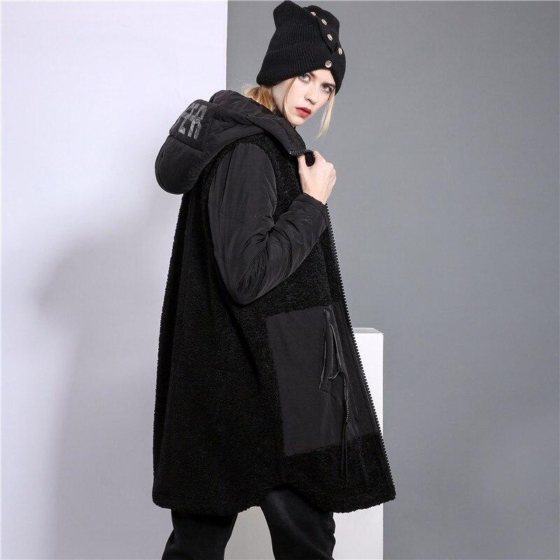 Long D'hiver Marque Noir De Dames Célèbre Femme Lulu 2018 Chaud Fourrure Vêtements Veste Max Coréenne Rembourré Streetwear Parkas Femmes Manteau Chapeau Punk tqwPOE1yE