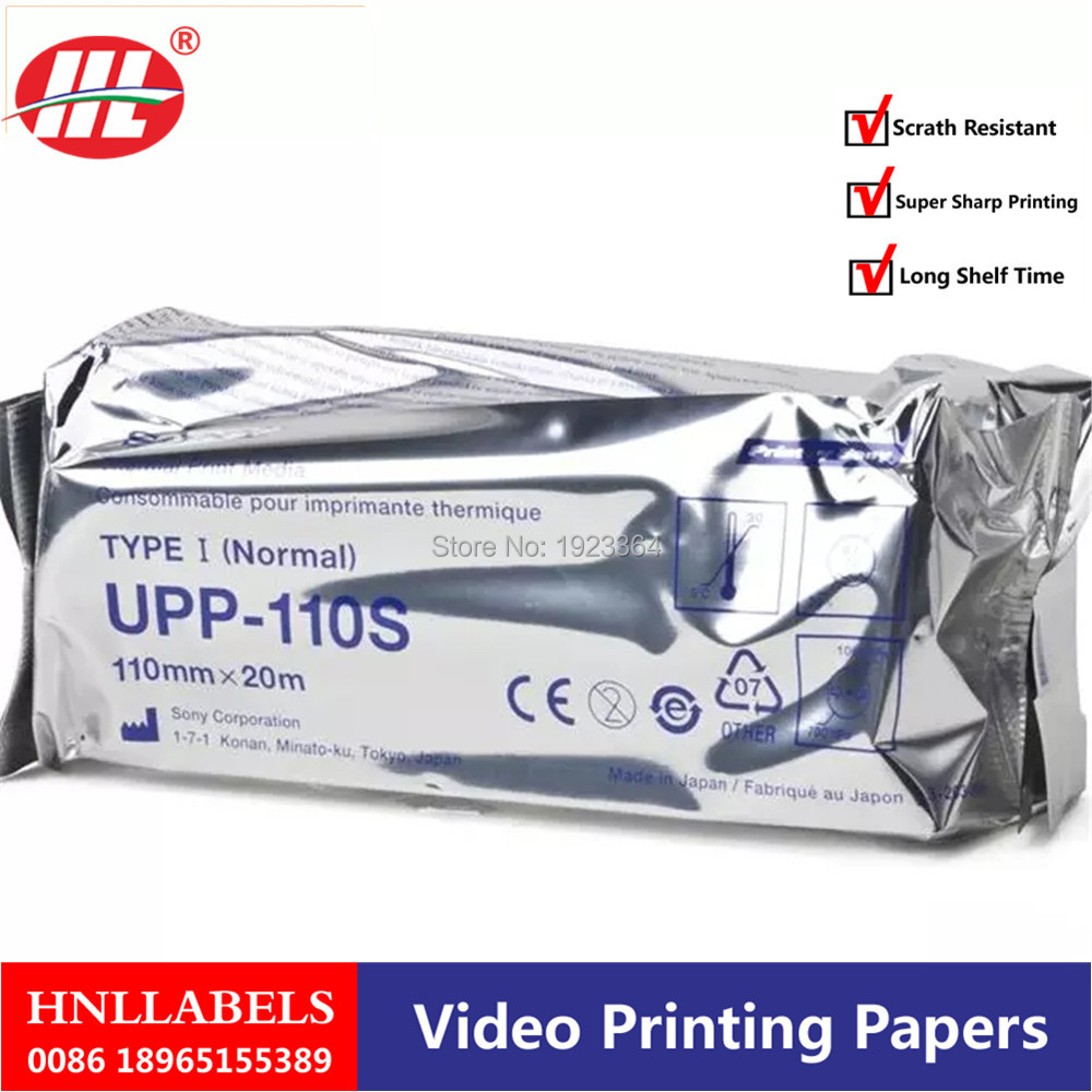 1X UPP-110S For SONY Printer 110mm*20m High Quality  Upp 110s SONO COPATIBLE Ultrasound Thermal Paper Roll
