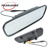 5 Inch for DVD Camera VCR Color TFT LCD Screen Rearview Mirror Monitor High resolution 16:9 screen DC 12V