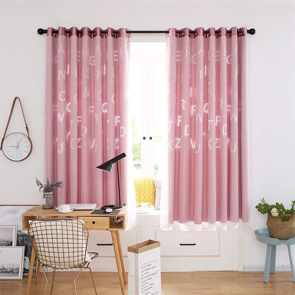 Living room patio curtain hollow letter pattern block - Glass block windows in living room ...