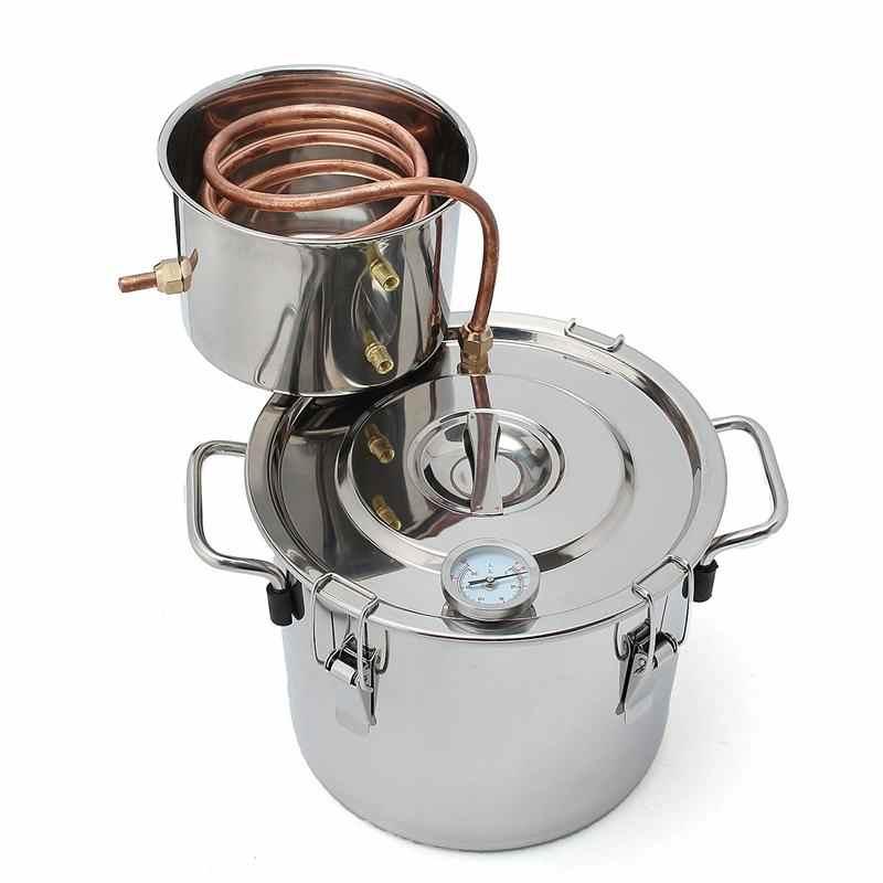 8L 2Gal бытовой DIY Этанол Спирт виски воды Купер дистиллятор охладитель котел Самогонный аппарат бочонок спирта воды пивоварения Ки