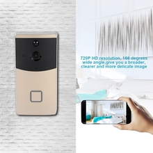 720P Wifi HD video Visible Camera IP Smart Video Doorbell 166 degrees wide angle Intercom Wireless Home Security DoorBell wireless video doorbell camera 720p hd smart intercom home security ring wifi remote phone doorbell for ios for android