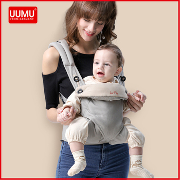 UUMU Cotton Breathable Ergonomic Baby Backpacks Carrier Slings Wrap Holder Hipseat Shoulder Waist Belt Sling Backpack Gear Ring 1