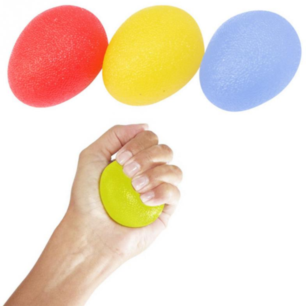 SWQ Hand Grip Strengthening Stress Relief Therapy Balls Finger Resistance Exercise Squeeze Eggs