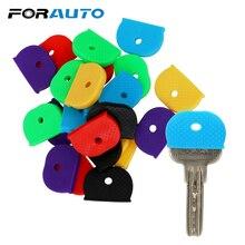 FORAUTO COM רכב מפתח מגן כיסוי מפתח שקית Caps רכב מפתח Case Shell 24/32 חתיכות חבילת Keyring גומי רכב סטיילינג גמישות