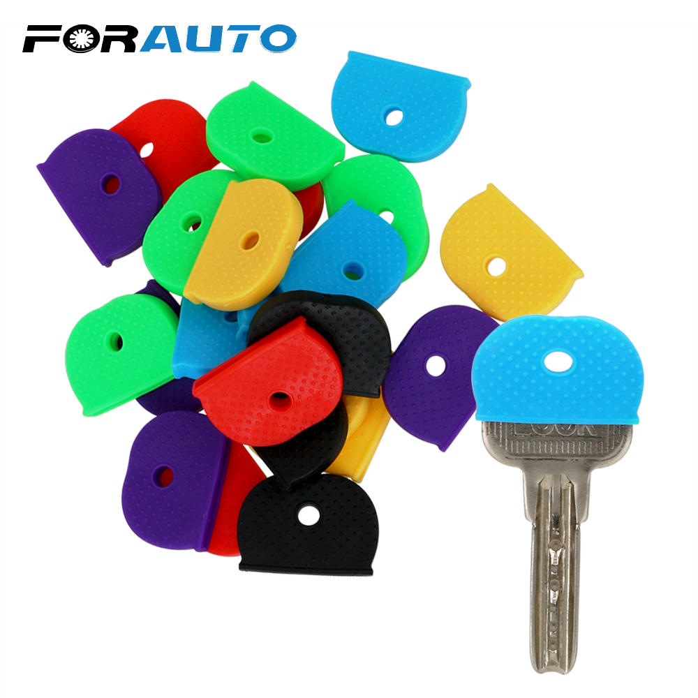 FORAUTO Car Key Protector Cover Key Bag Caps Car Key Case Shell 24/32 Pieces Pack Keyring Rubber Car-styling Elasticity