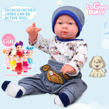 купить 50cm Newborn Reborn Baby Simulation Reborn Baby Doll Soft Children Toy Doll Reborn Doll Kits Reborn Baby Model Doll по цене 2639.26 рублей