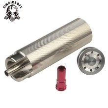 SHS Tune Up Kit Stainless Steel Cnc Milled One-piece Solid Cylinder Built-in Head Piston Nozzle Airsoft Paintball