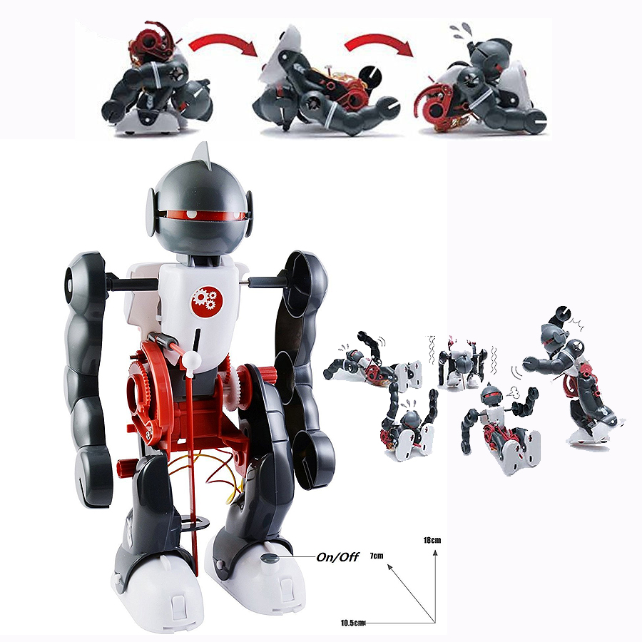 Diy Mode Us 8 74 35 Off Action Figures Tumbling Robot Experiment Diy Assembling 3 Mode Assembly Toy Kit Diy Electric Robotics Creative Educational Toys In