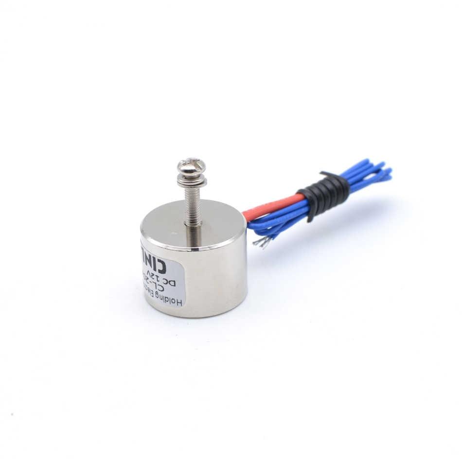 D20mm * H15mm 2.5 KG/25N gospodarstwa magnes elektryczny podnoszenia przyssawka elektrozaworu elektromagnes DC 6V 12V 24V niestandardowe niestandardowe