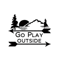 GO PLAY OUTSIDE DECALs Nature Sticker Car Truck Bumper Rv Window Laptop
