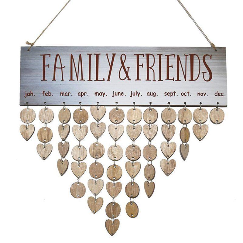 Eine VollstäNdige Palette Von Spezifikationen familie & Freunde Kreative Mode Holz Geburtstag Wichtig Tag Erinnerung Bord Diy Kalender