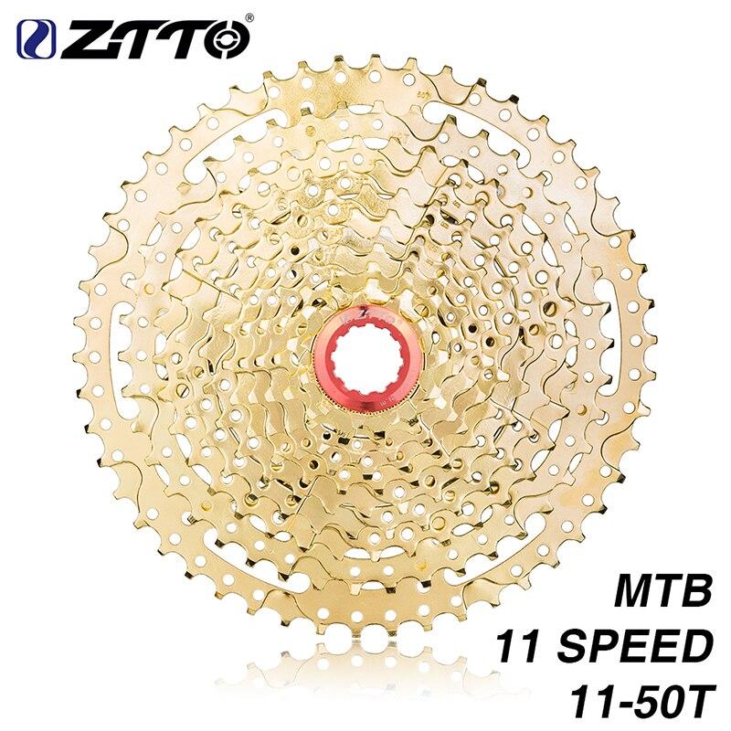 ZTTO vtt 11 vitesses or ultra-léger Cassette 11 s 11-50 t rapport large roue libre pignons VTT pièces de haute qualité