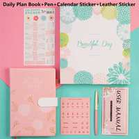 2019 Notebook Cartoon Cute Journal Diary Planner Notepad for Kids Gift Writing Pads Stationery Flower Notebooks Scheduler A5/A6