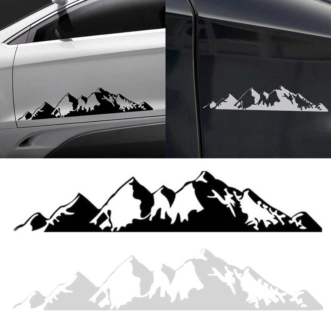White Mountain Auto >> 50cm Black White Mountain Car Decor Pet Forest Sticker Auto Decal For Suv Rv Camper Offroad Car Styling