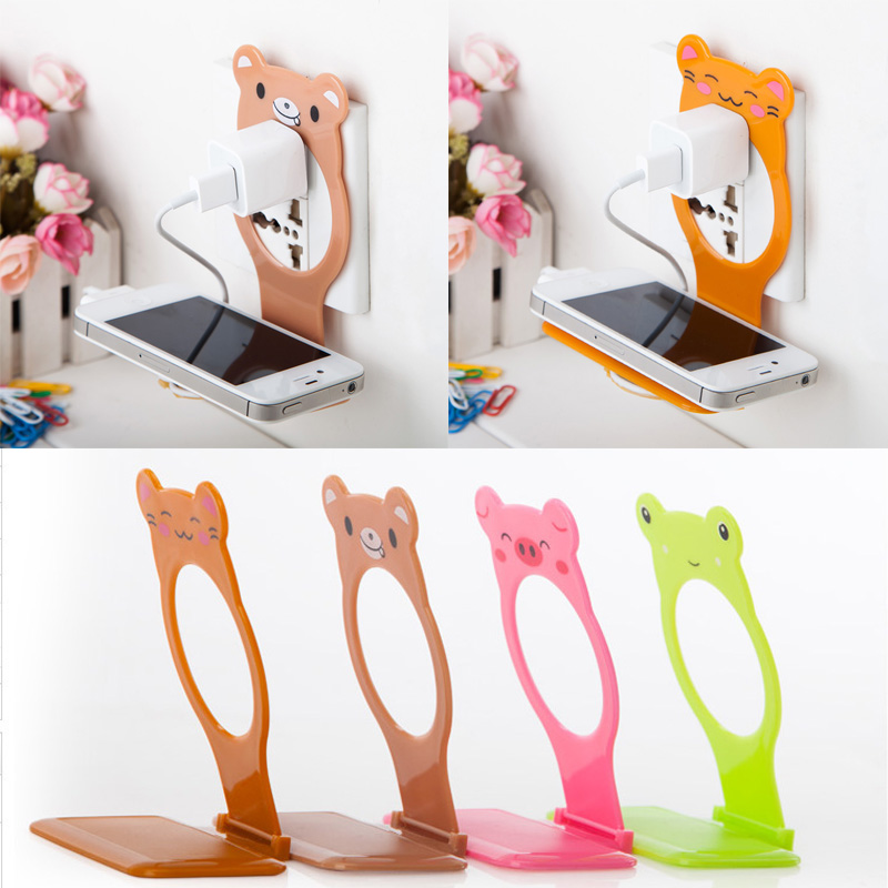 Home Decor Decorative Shelves Hangs Wall Mobile Phone Holder Stands Charging Holder Cellphones Universal