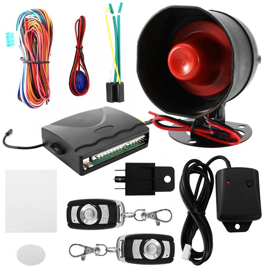 Alarme carro 12 V universel voiture système d'alarme moteur bouton poussoir démarrage arrêt verrouillage antivol Protection oto aksesuar