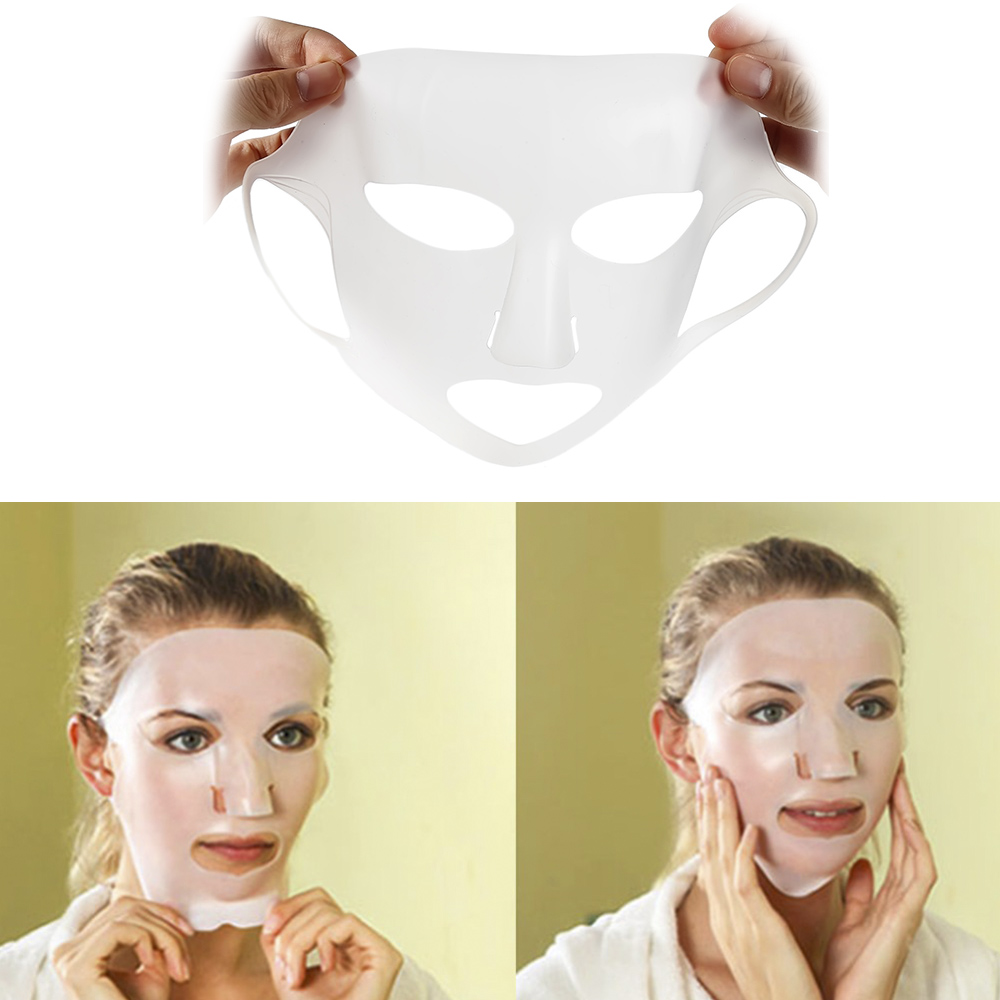 Reusable Silicone Face Mask Cover Prevent Mask Essence Evaporation Speed Up The Absorption Moisturizing Facial