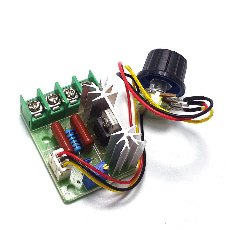 2000W thyristor governor, motor 220V, high power, voltage regulating dimming thermostat module, external potentiometer