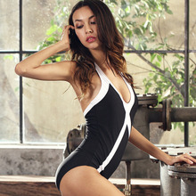 купить One Piece Swimsuit 2018 Sexy Back Swimwear Women Swimsuit Vintage Retro Bathing Suits Beach Wear Swim Monokini S-XL дешево