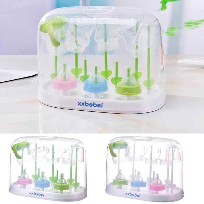 Milk Bottles Drying Rack Baby Feeding Tableware Cleaning Dryer Cup Holder