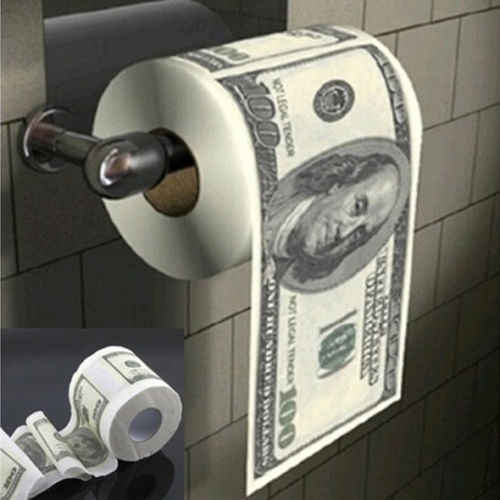 Hot Donald Trump $100 Dollar Humor Toiletpapier Bill Toiletpapier Roll Novelty Gag Gift Dump Trump Funny Gag gift