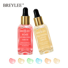 Breylee 2pcs Rose Nourishing Serum Retinol Lifting Firming Face Skin Care Collagen Whitening Anti-aging Wrinkle Moisturizing