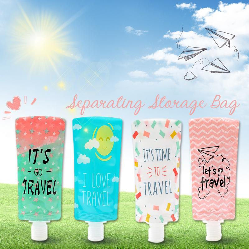 Image 5 - Squeeze Makeup Container Lotion Separating Storage Bag Portable Shower Gel Shampoo Bottle Face Washing Lotion Storage Bags-in Bags & Baskets from Home & Garden