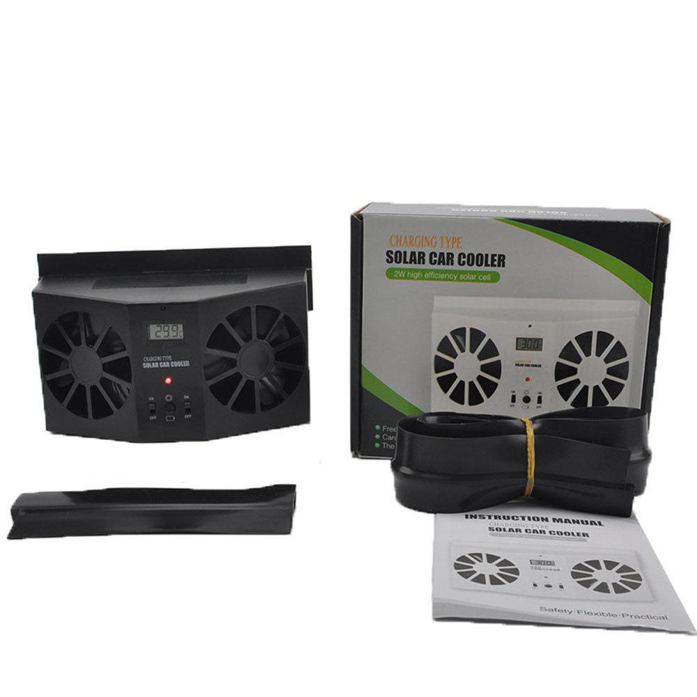 Solar Powered Car Air Vent Cool Fan Auto Cooler Ventilation System Exhaust Fan