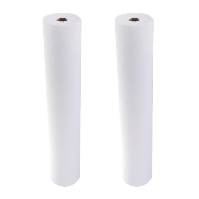 2 لفة 100 ورقة المحمولة مقاوم للماء غير المنسوجة مسند الرأس الصفحات الورقية لتدليك طاولة الوشم مكافحة النفط 50x70cm